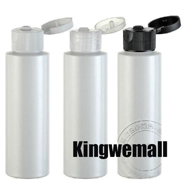 300pcs/lot.100ml PET plastic  WHITE bottle+butterfly cap.Mask Shampoo Hand cream Lotion bottle