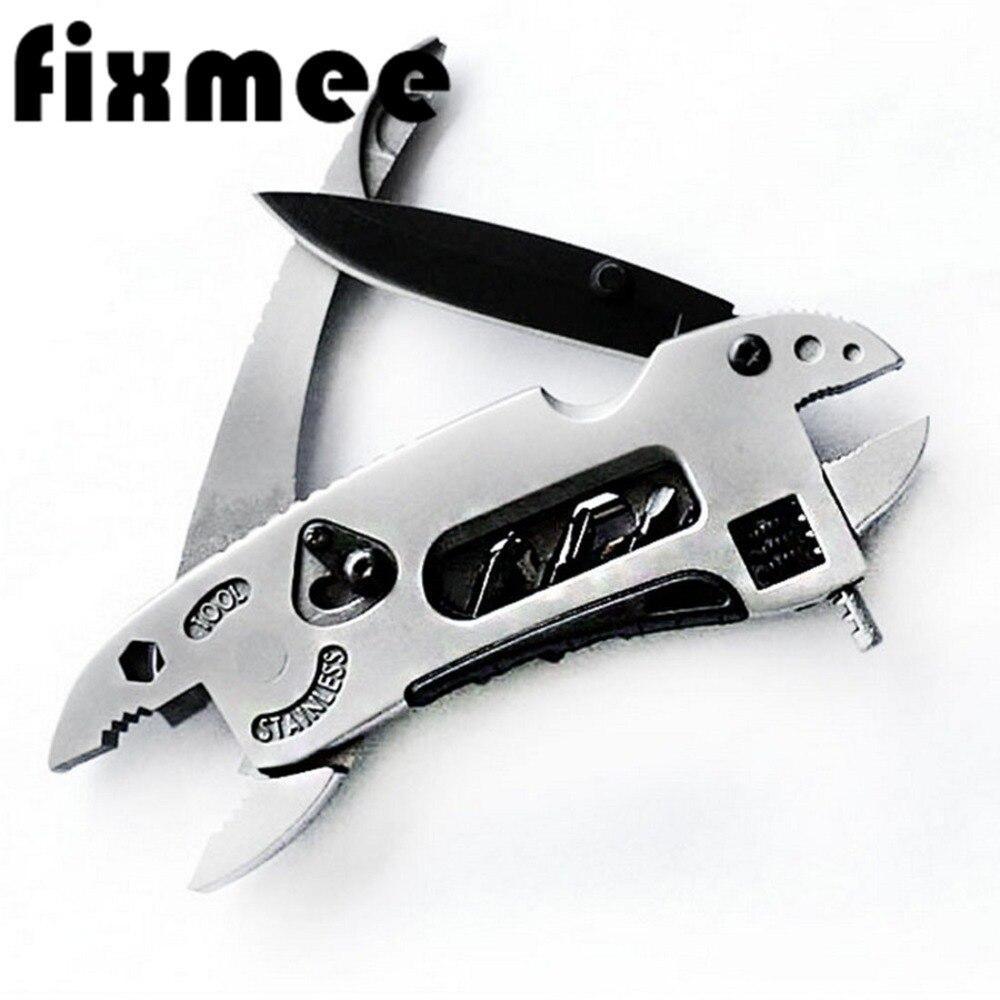 Survival Hand Multi Tools Mini Multitool Pliers Pocket Knife Screwdriver Set Kit Adjustable Wrench Jaw Spanner Repair