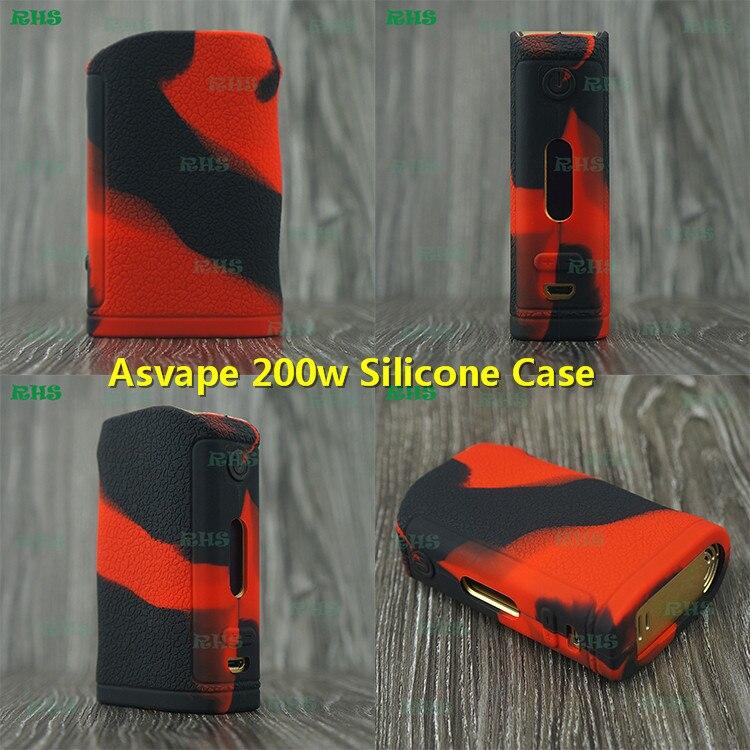 10 قطع RHS جديد المنتج ل Asvape 200 واط غطاء حافظة من السيليكون مع بارد تصميم وجميلة الألوان شحن مجاني