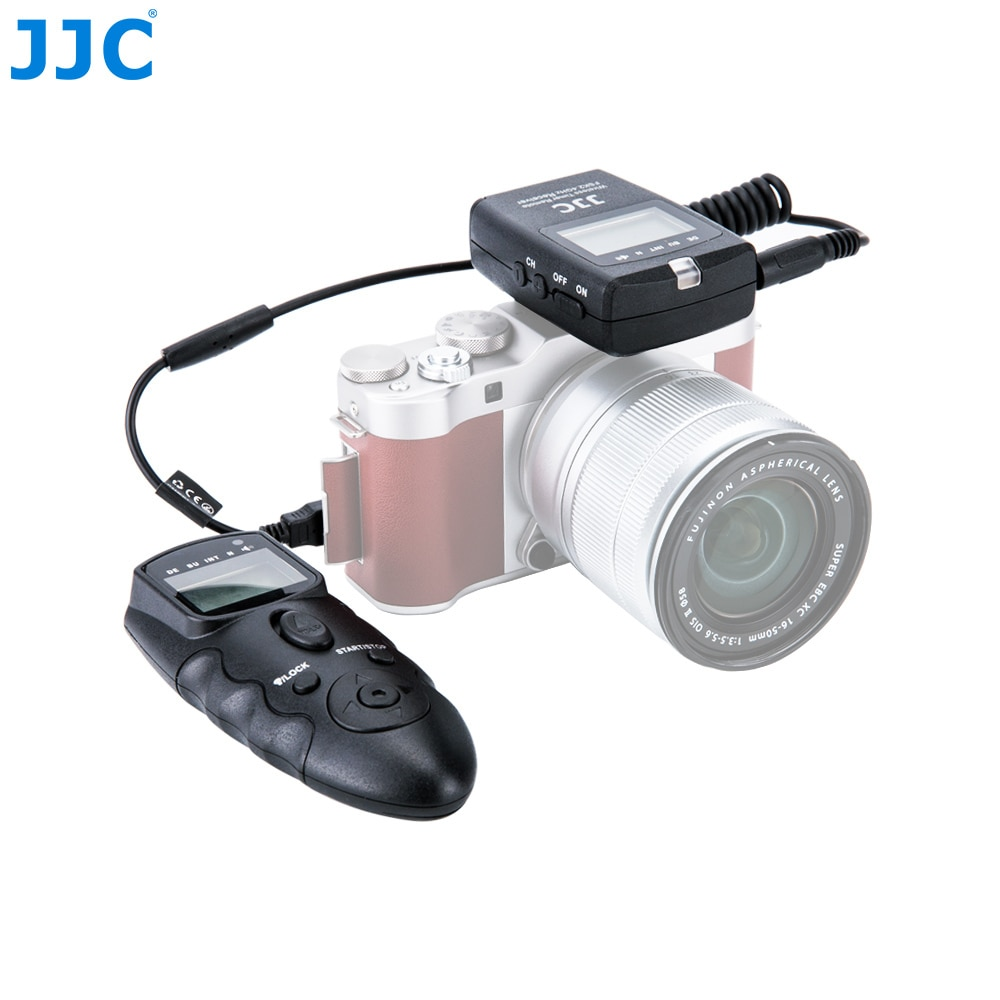 JJC DSLR Cámara 2,4 GHz RF temporizador de Control remoto inalámbrico para FUJIFILM X-H1/X-Pro2/X-A3/X100T/X100F/X-T20 Control de 56 canales