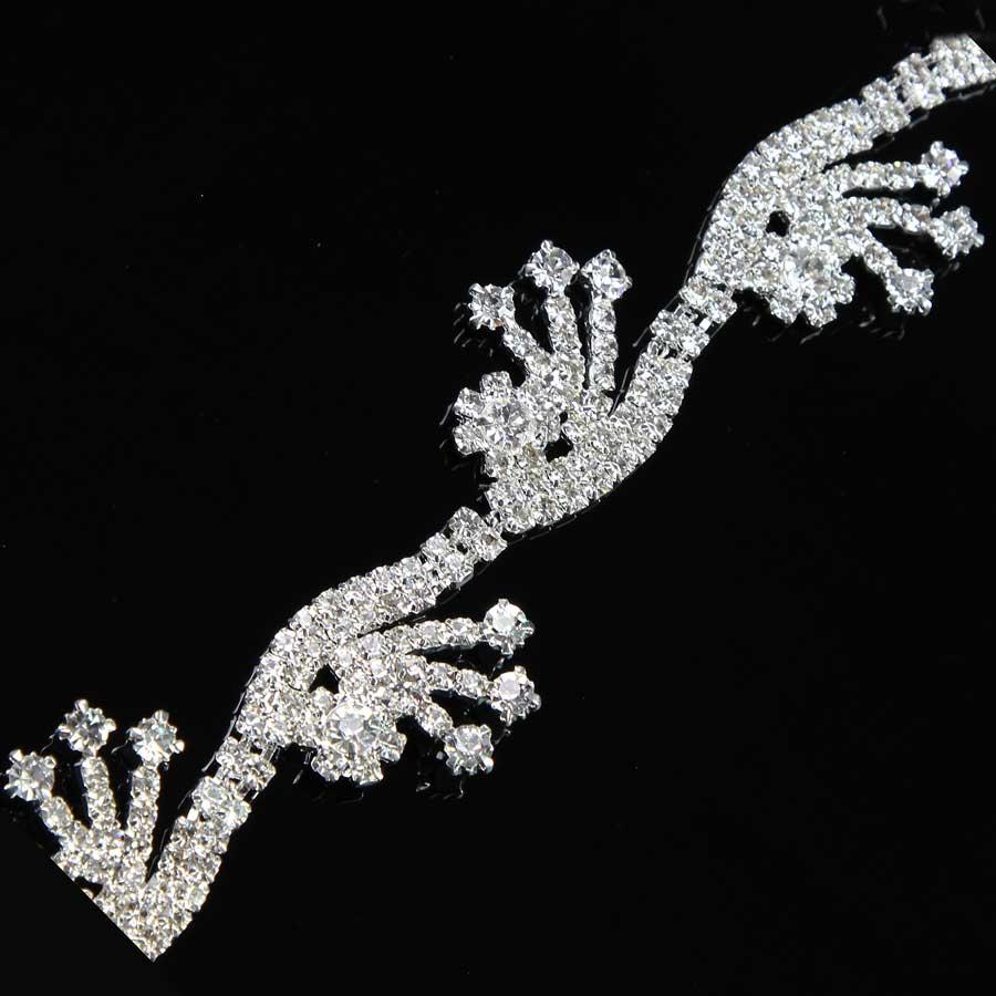 5 yardas vestido de lujo Cadena de cierre de cristal dorado cinta de pastel de diamantes de imitación accesorios de costura nueva llegada