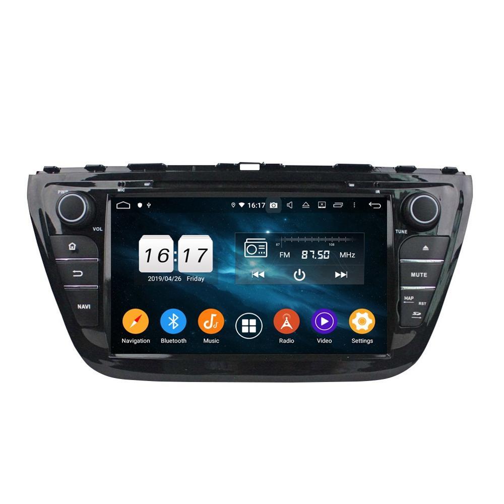 "IPS Octa Core 2 din 8 ""Android 9,0 Car Radio DVD GPS para Suzuki SX4/S 2014 bluetooth WIFI 4 GB RAM 32 GB ROM espejo-enlace"
