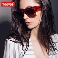 yoovos 2021 vintage square sunglasses women men big frame fashion retro mirror sun glasses new brand lunette de soleil femme