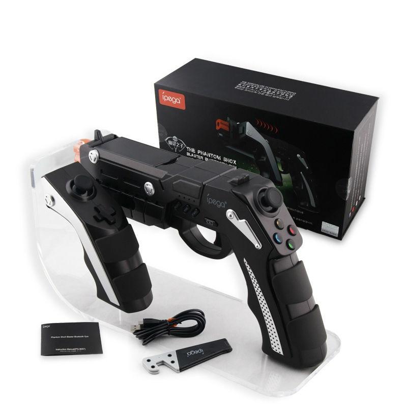 Frete grátis novo modelo ipega PG-9057 estilo arma sem fio bluetooth gamepad controlador do jogo para ios android pc jogo de tiro