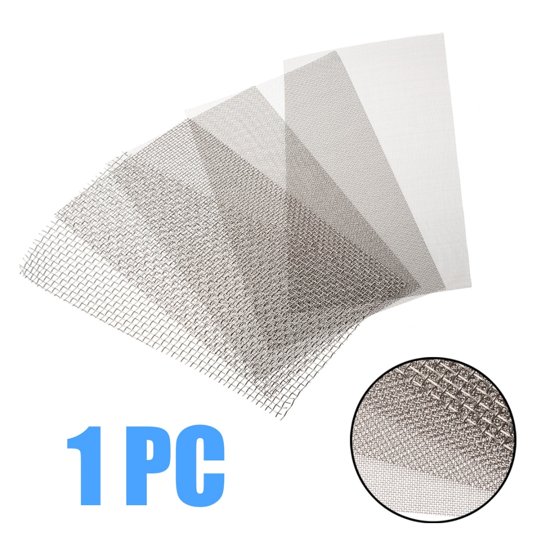 1pc Stainless Steel Woven Wire Mesh 5/8/20/30/40 Mesh Cloth Screen Wire Filter Sheet For Home Use