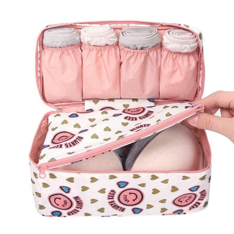 2019 nuevo viaje Bra ropa interior organizador bolsa de cosméticos diaria cubos de embalaje suministros artículos sujetador de almacenamiento bolsa 30