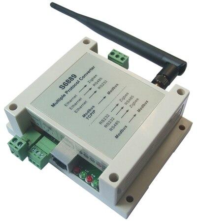 Múltiples convertidor de protocolo módulo Ethernet Zigbee RS485 RS232 Modbus TCP RTU