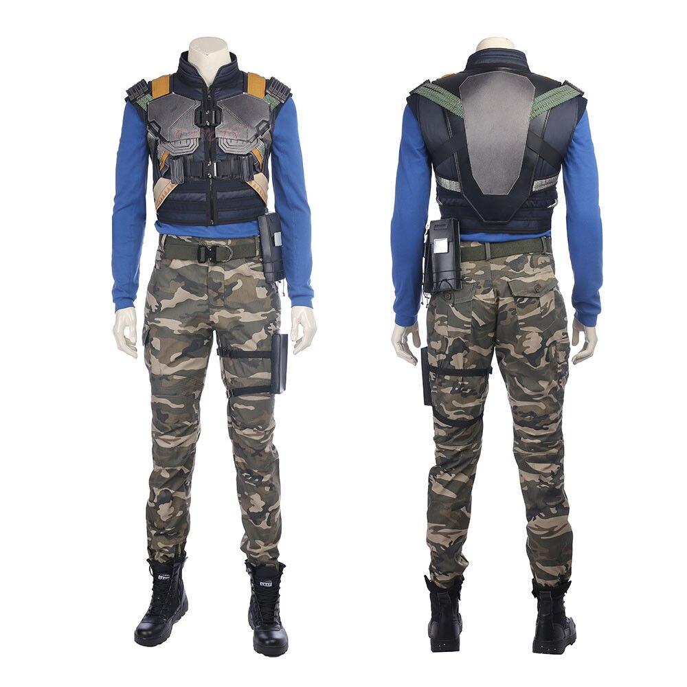 Cafiona 2018 Movie Hero Black Panther Erik Killmonger Cosplay Costume Cool Man Fighting Sets Halloween