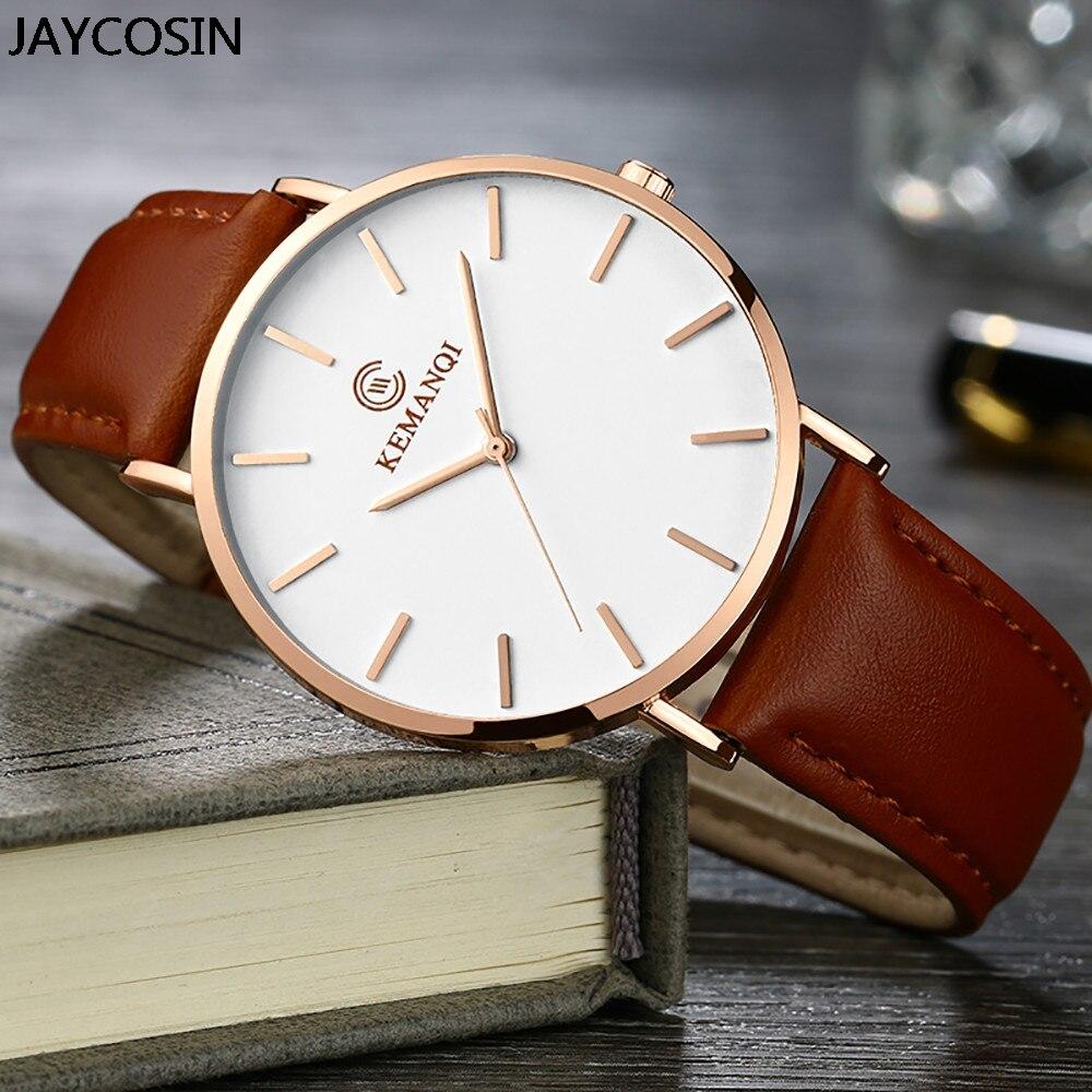 Nuevo reloj de negocios marrón para hombre, reloj de fecha de cuero sintético, regalo de lujo para dropshipping, reloj Masculino, reloj Masculino