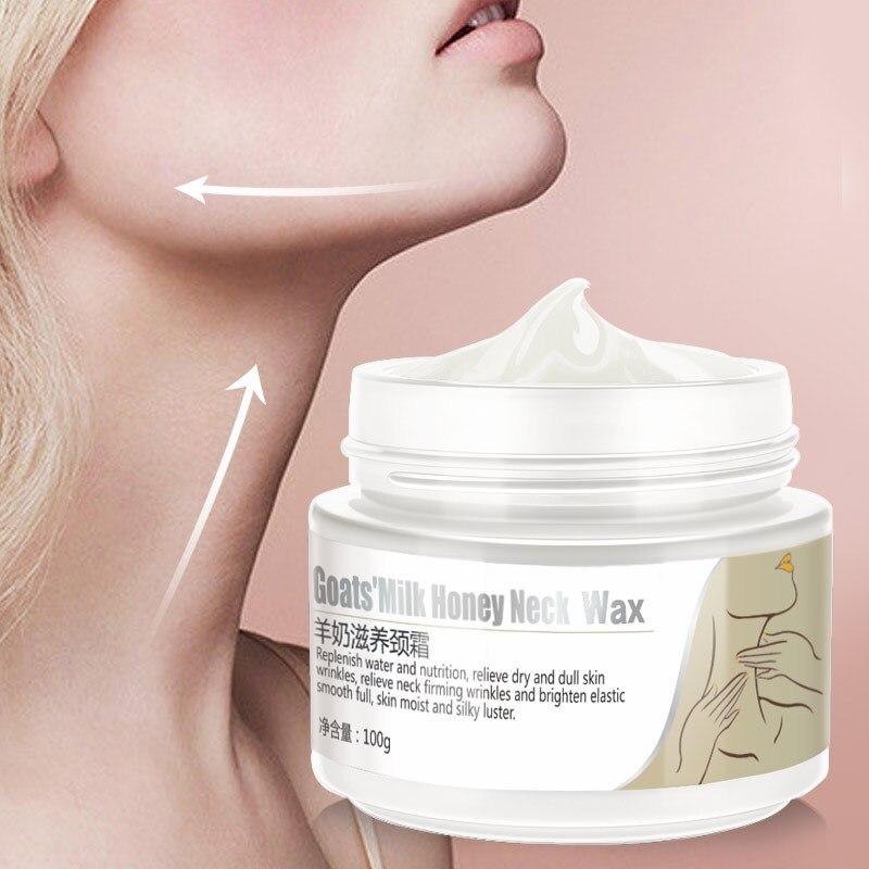 Piel cuidado del cuello crema reafirmante Anti arrugas blanqueamiento hidratante cuello cremas para el cuidado de la piel cuidado del cuello para la piel de todos tipos de 100g