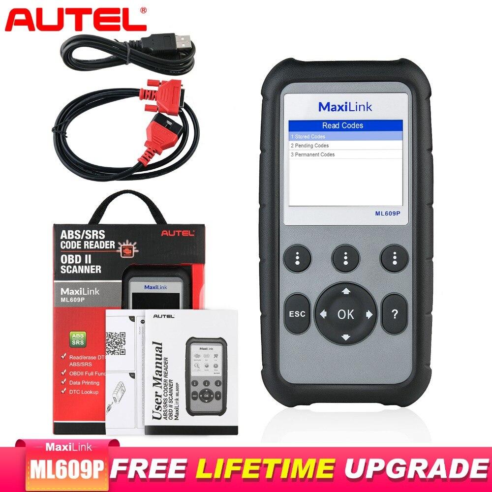 Autel-herramienta de diagnóstico MaxiLink ML609P, escáner Obd2, profesional, ABS y SRS, lectura...