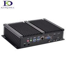 Kingdel i5 mini computer windows 10 core i3 4010u i3 5005u i5 4200u 2 * rs232 lüfterlose mini industrie pc robuste pc