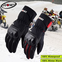 2018 New Arrival Suomy Black Waterproof Motorcycle Gloves Winter Keep Warm Motocross Gloves Men Alpine Stars Guantes Moto