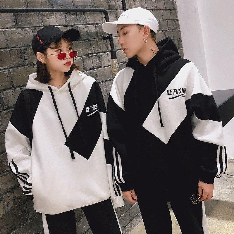 Boże narodzenie rodzina pasujące ubrania ojciec matka chłopiec dziewczyna przyjaciel rodzina wygląd nosić koreańska bluza z kapturem oversize kobiety para stroje 11