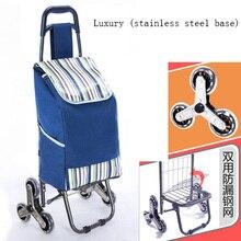 35L escalier femme panier panier ménage sac à provisions chariot remorque Portable chariot pliable à trois roues chariot