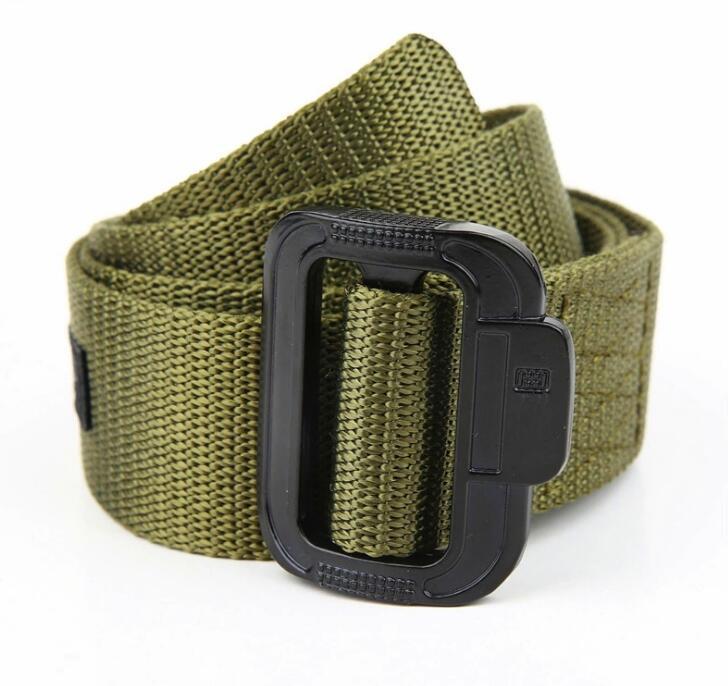 Men's  Canvas Belt Men Tactical Designer Belts For Jeans Pants Elastic Nylon 3.8CM Wide Belt Black Metal Buckle Waist Belt