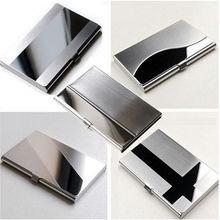 Porte-carte s étanche en acier inoxydable argent Aluminium boîtier en métal boîte hommes daffaires ID nom crédit porte-carte couverture