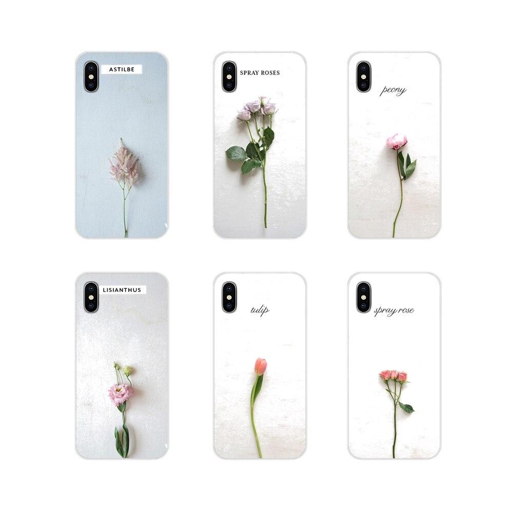 Fundas de TPU transparentes pintadas con flores de plantas verdes para Apple iPhone X XR XS MAX 4 4S 5 5S 5C iPhone 6 6 S 7 7 Plus ipod touch 5 6