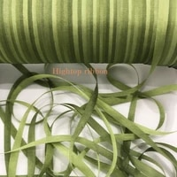 4mm green variegated color 100 pure silk woven double face silk ribbons for embroidery handcraft projectgift packing