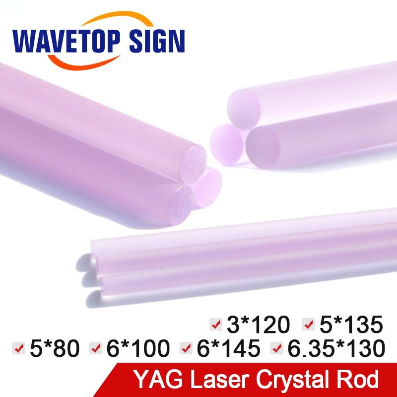 WaveTopSign Laser Welding Machine Crystal Rod Laser Cutting Machine YAG Crystal Rod Size Dia.3-6.35mm Length 80-145mm