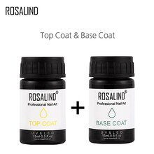 Rosalind novo 15ml base superior casaco conjunto para todos os verniz gel semi permanente design manicure primer topos casaco gel polonês arte do prego