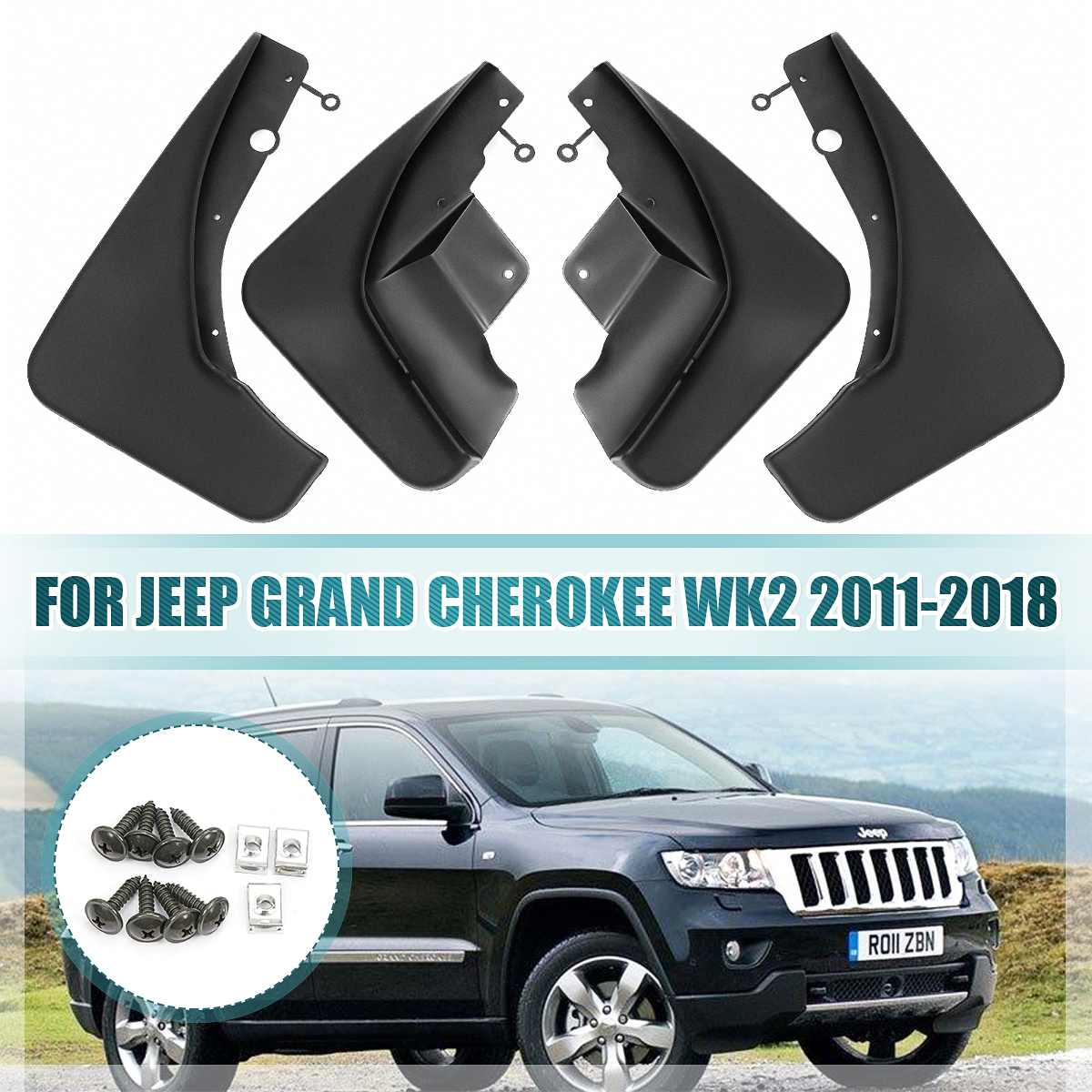 Garde-boue garde-boue pour garde-boue garde-boue garde-boue pour Jeep Grand Cherokee WK2 2011 2012 2013 2014 2015 2016 2017 2018