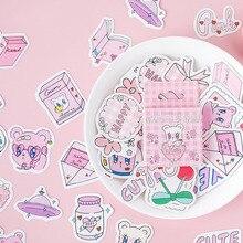 45 pièces/boîte mignon ours autocollants Kawaii papeterie autocollant bande dessinée autocollants adhésifs pour liste décorative Journal Journal Album Photo