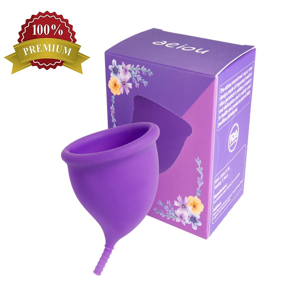 2021 новый дизайн 100% медицинский силиконовый Менструальный чаша для женщин Coletor Менструальный патент 100% удобная женская забота о здоровье