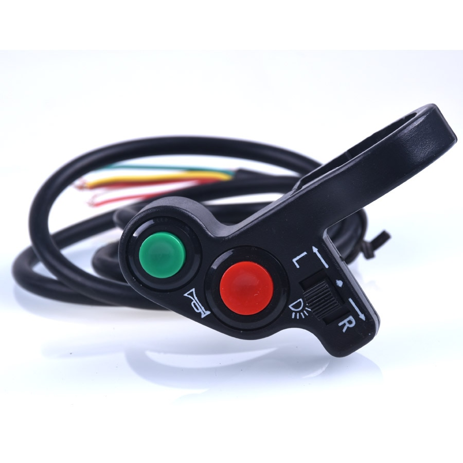 Мотоциклетный скутер 7/8 дюймов, четырехъядерный переключатель, сигнал поворота, включение/выключение, руль, переключатель для велосипеда, мотоцикла, скутера