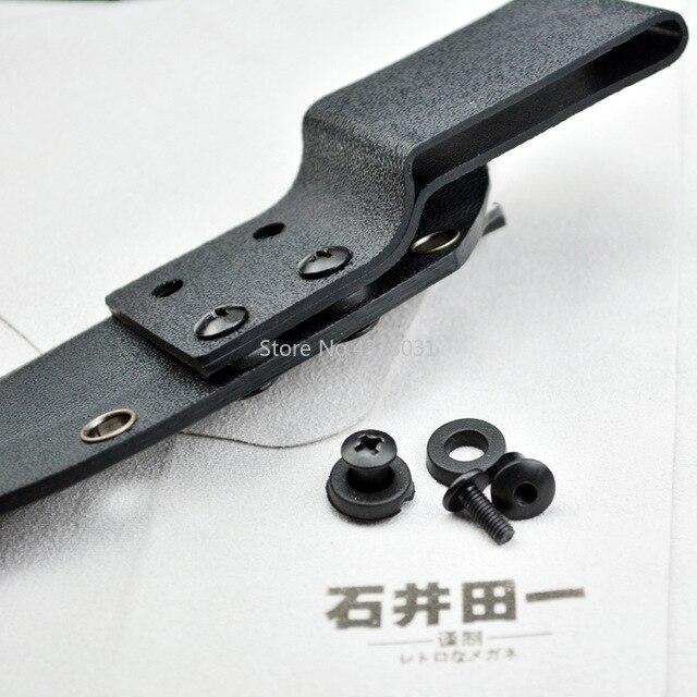 10 piezas clips traseros tornillo para funda Kydex K placa termoplástica hoja DIY funda para cuchillo Protector