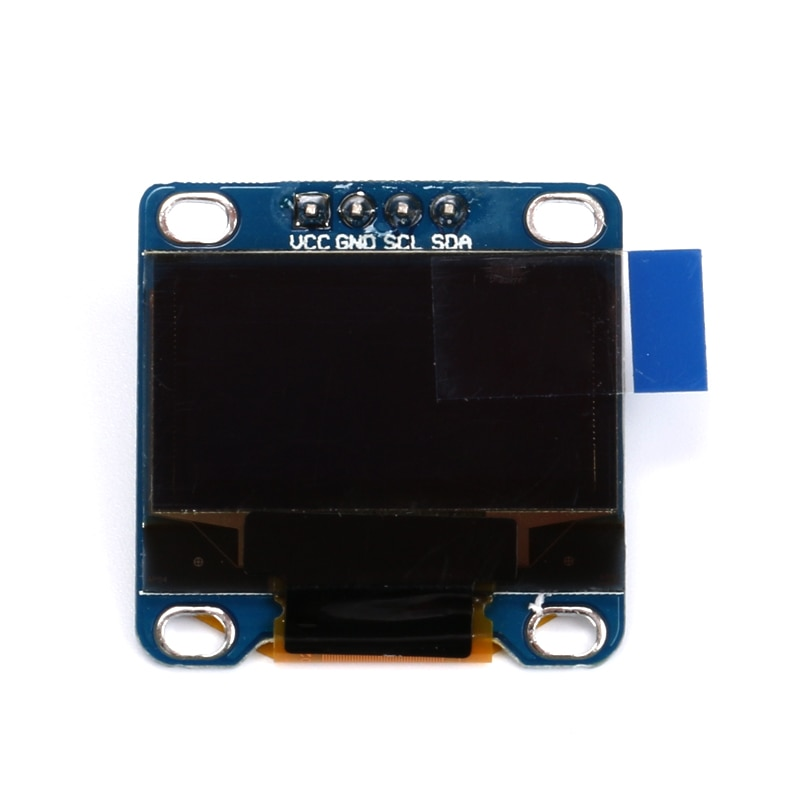 "5 piezas 0,96 pulgadas amarillo + azul doble Color CII comunicación 12864 Módulo de pantalla OLED pantalla LCD de 0,96"" 128X64 I2C SSD1306"
