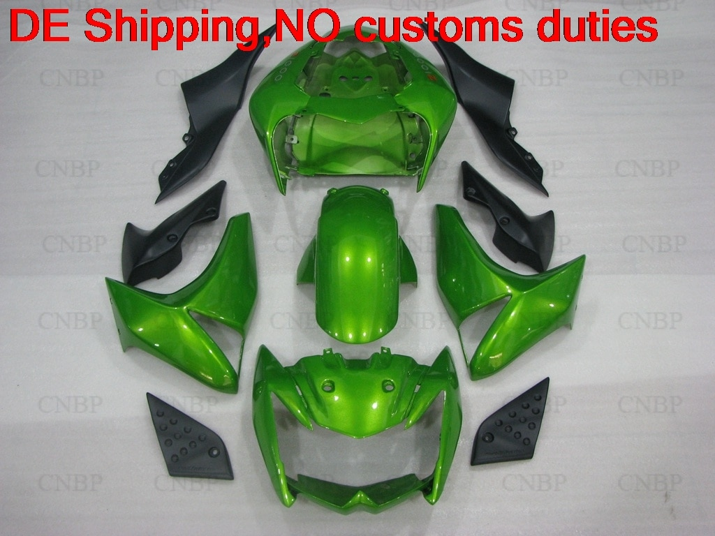Kit de carrocería Z-1000 08 carenado de motocicleta para Kawasaki Z1000 07 2007 - 2009 Verde Negro carenado Z 1000 2008