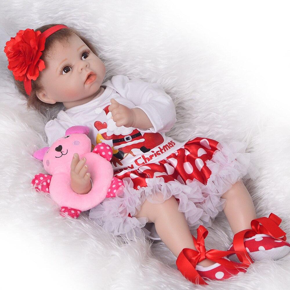 DollMai бренд 22 дюйма 55 см мягкие силиконовые куклы для новорожденных, игрушки для детей, подарок для детей, куклы lol reborn для девочек, для малышей...