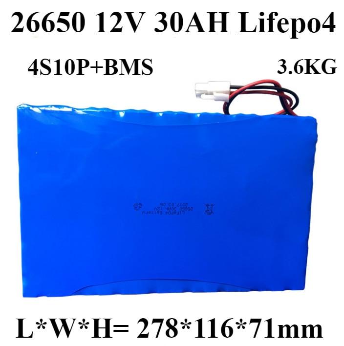 30AH 12V Lifepo4 motor de batería 12v 300w 360W 12,8 V lifepo4 32650 26650 30AH para robot inteligente inundación baliza jardín luz carrito de golf