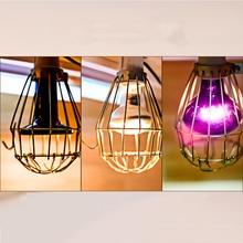 Pantallas de lámpara hueca, jaula de guardia de luz, pantalla de lámpara colgante, Bombilla de protección, cubierta de lámpara Industrial de red protectora