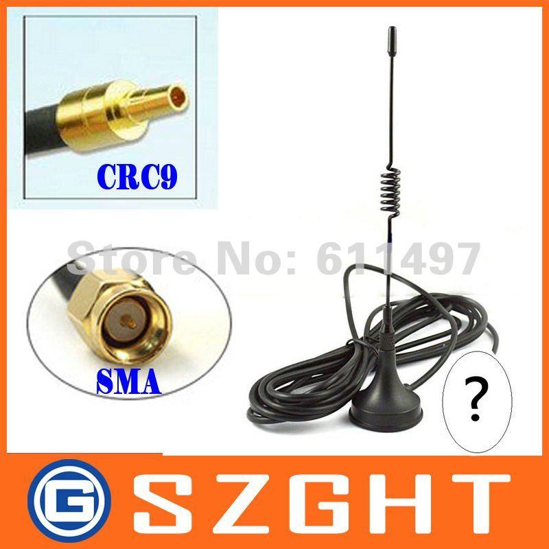 Antena GSM 433 Mhz 5dbi CRC9/SMA/TS9 enchufe recto con base magnética para módem Huawei y ZTE /Router
