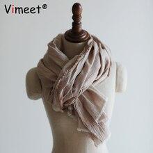 Vimeet-foulard dhiver en cachemire   185*68cm, écharpe de luxe en cachemire, pour femmes, à la mode