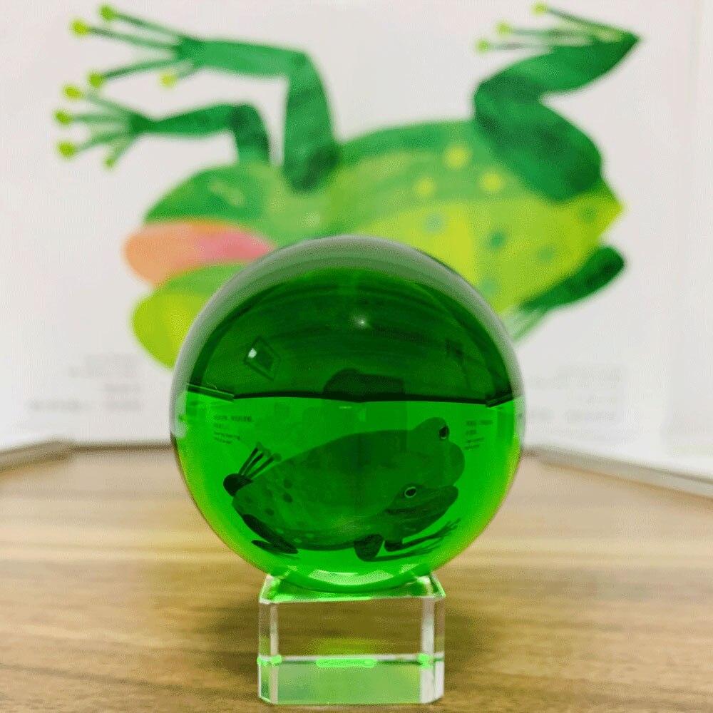 50/60 # bola mágica de cristal verde bola mágica para fotografía pisapapeles Fengshui hogar Oficina decoración mesa ornamento chico Favor regalo