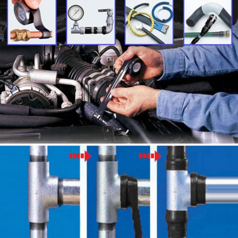 1PCS electric high pressure self-adhesive tape Garden water pipeline repair tape Self-fluxing Waterproof Repair tape 2.5cm*1.5m