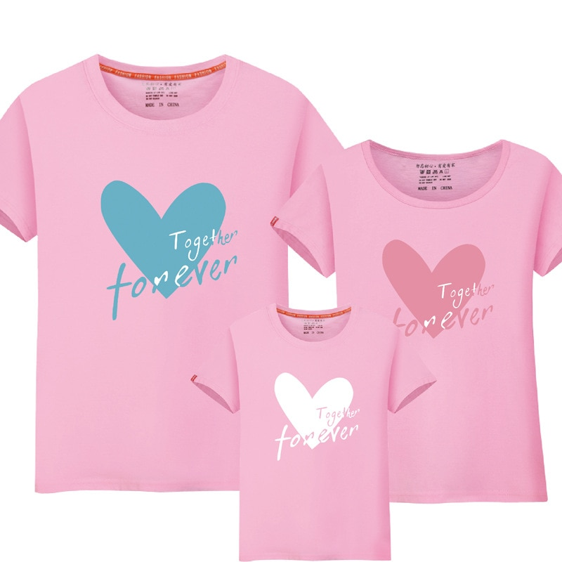 1 pieza a juego-madre-hija-ropa familia camiseta corazón impresión mamá hija a juego familia a juego madre hija ropa