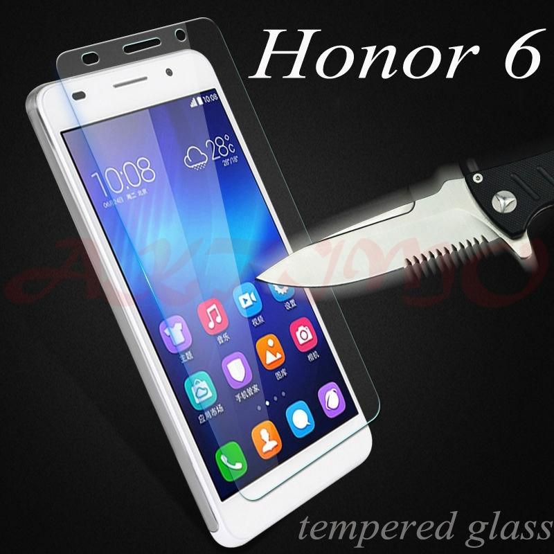 9H a prueba de explosión de vidrio templado Protector para Huawei Honor 6 H60-L02 H60-L12 H60-L04 Protector de pantalla Ultra-delgada película protectora Sklo