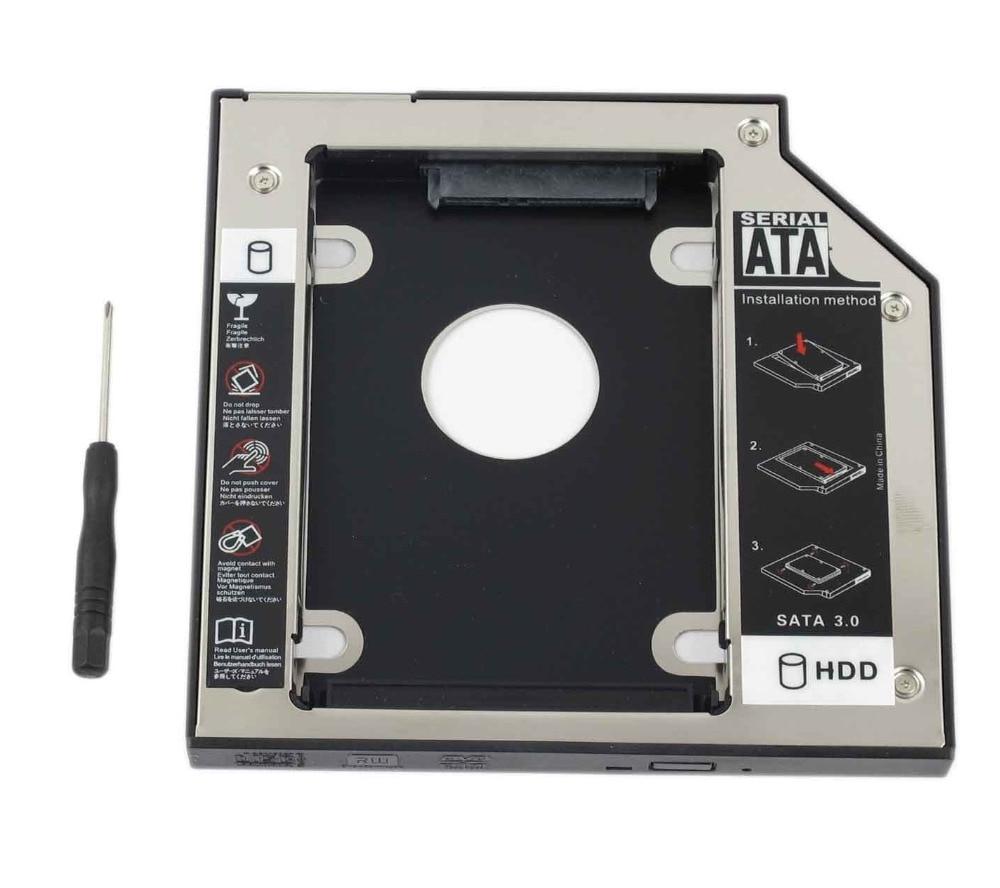 WZSM nuevo 12,7mm SATA 2nd SSD HDD Caddy para HP Compaq Evo n1000c n1000v n1005c n1020v DV6900 Disco Duro Caddy