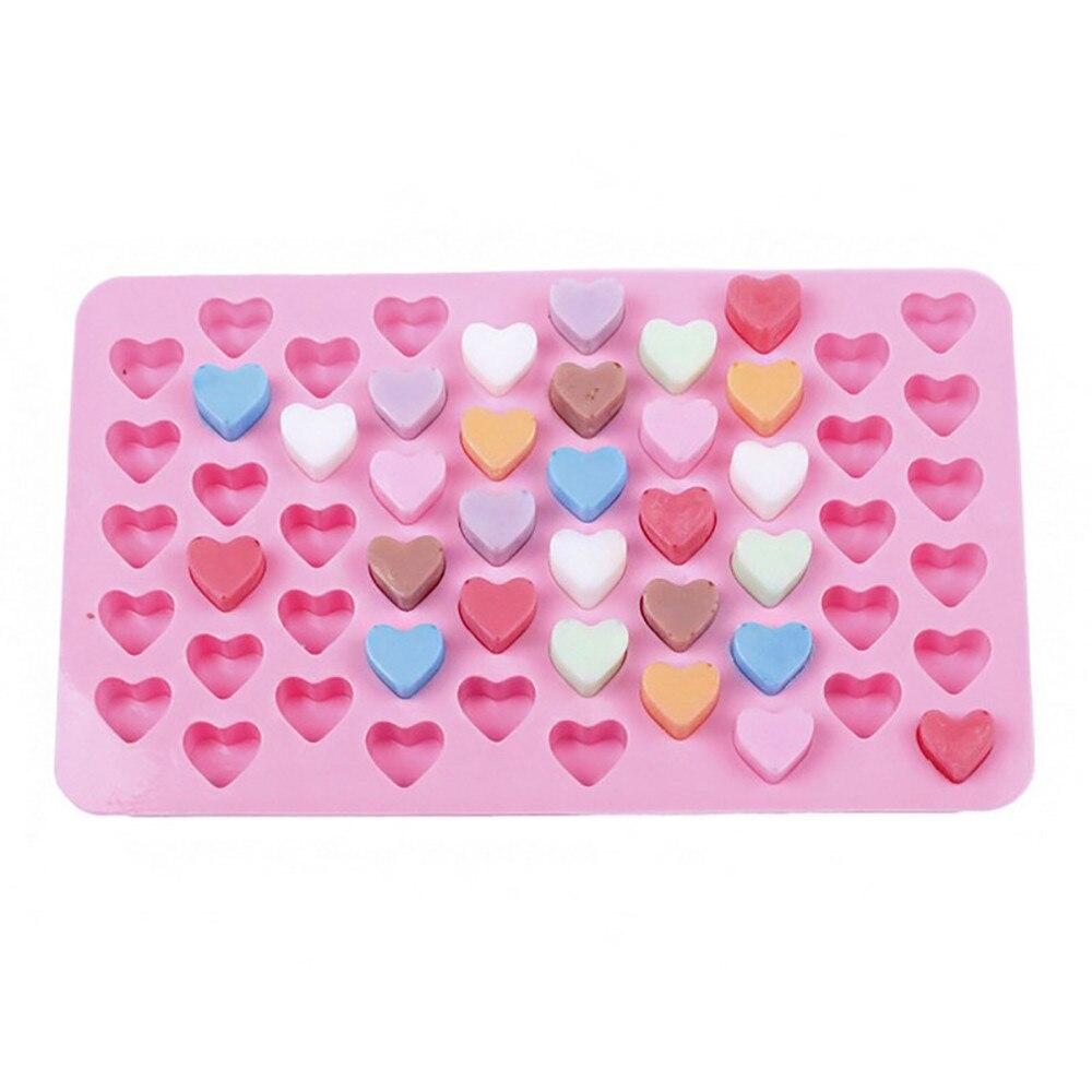 55 agujeros hornear torta molde 1,5 Mini Corazón de silicona Chocolate Fondant gelatina galleta Magdalena molde de hielo moldes flexibles Cupcake molde