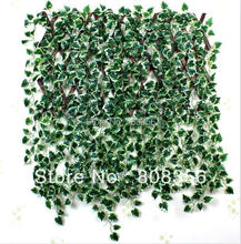 "HOT 48Pcs 200cm/78.74"" Length Artificial Begonia Simulation Ivy Rattan Wall Flower Leaf Vine Green Plant Cane Home Decoration"