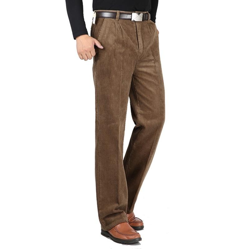 سروال قصير رجالي ، سروال قصير ، خصر عالي ، فضفاض ، متوسط العمر ، دافئ ، سميك ، قطن ، خريف وشتاء