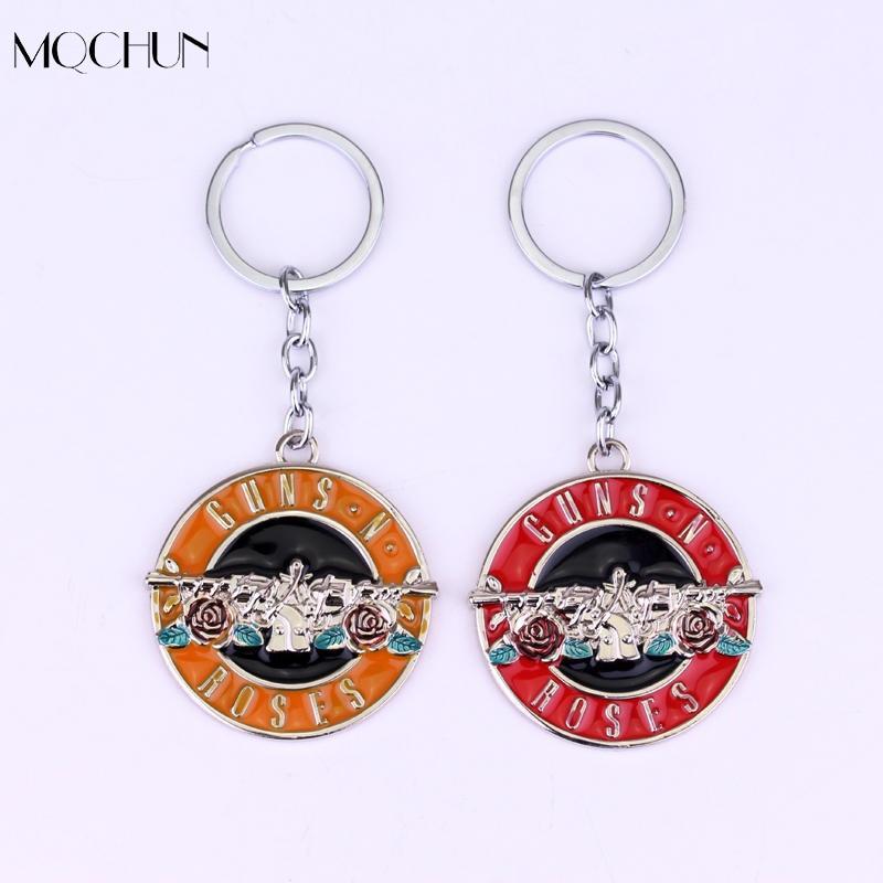 MQCHUN Jewelry Hot Band Guns N 'Roses Keychain Model Alloy Key Chain Fashion Women&Men Skelton For GnR Band For Fans Key Chain