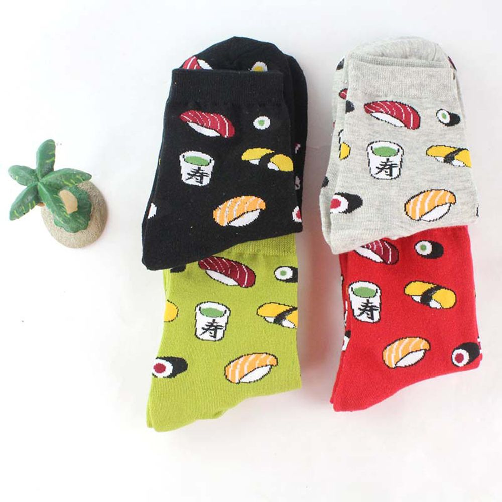 1 Pair Cute Funny Creative Harajuku Sushi Cartoon Design Socks Japanese Crew Socks Women Novelty Lif