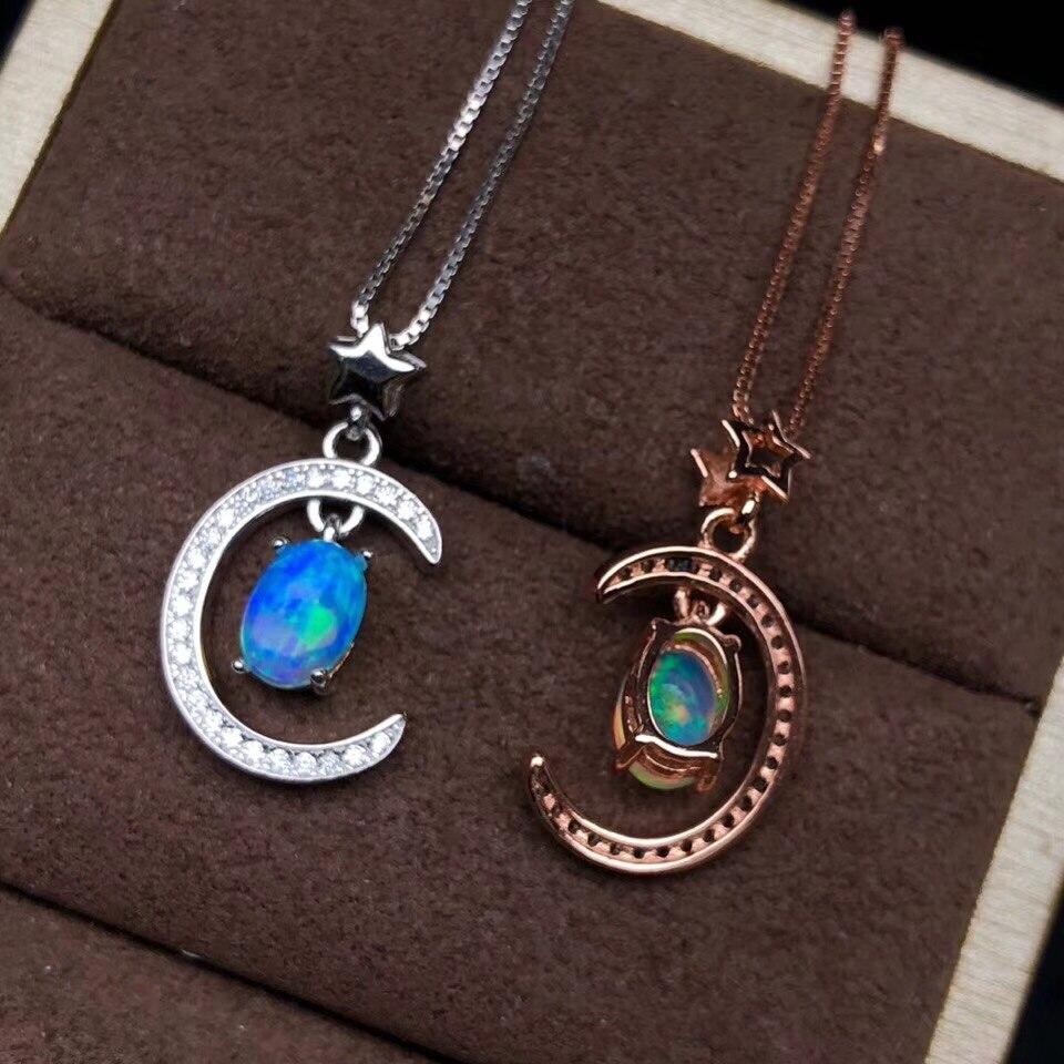 Новинка 2020, Опаловая подвеска с драгоценными камнями для женщин, украшение из настоящего серебра 925 пробы, позолота, натуральный драгоценны...