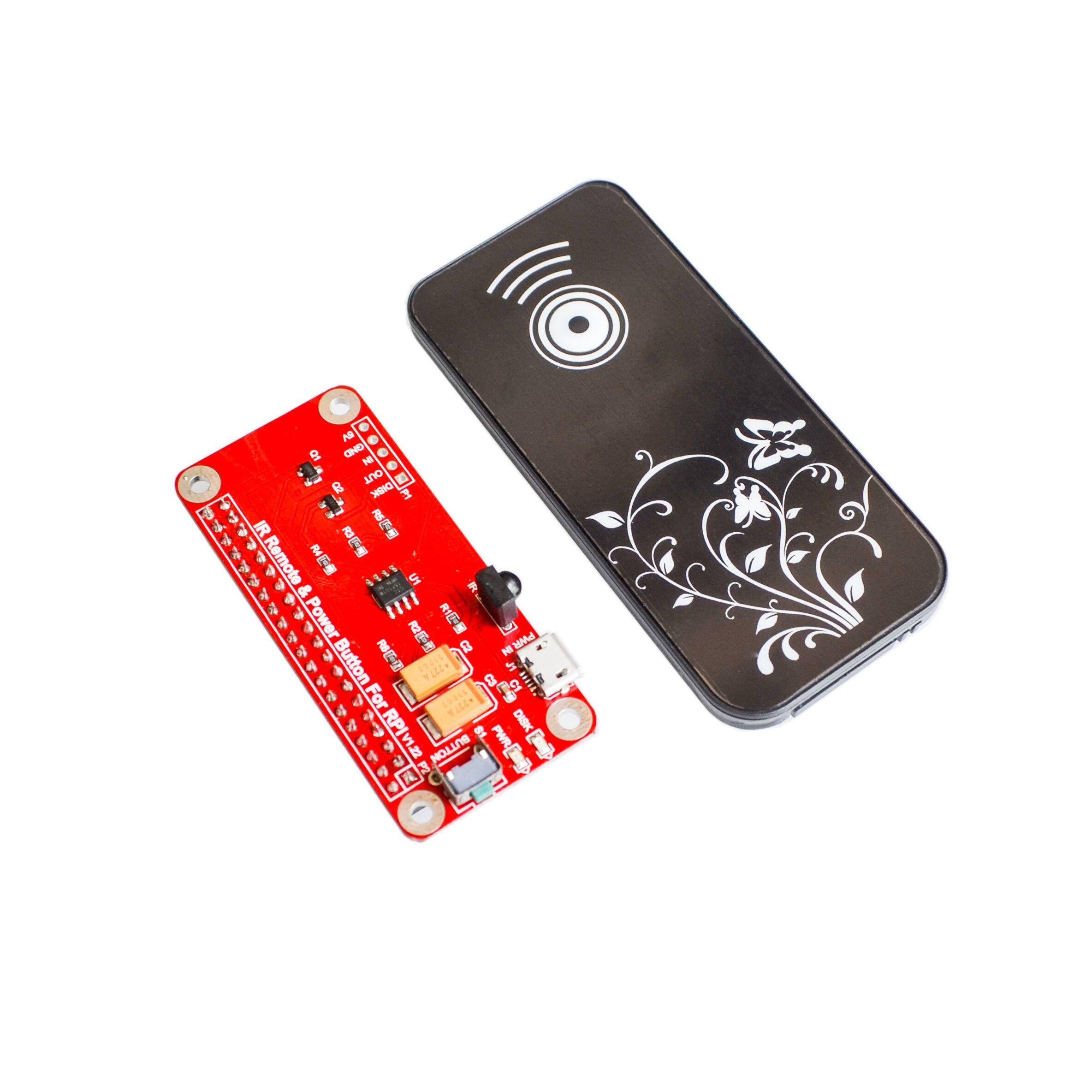 1kit interruptor módulo de controle remoto ir controle remoto módulo botão energia para raspberry pi 2/3 modelo b pi zero