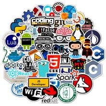 50 Pcs Internet Java Sticker Geek programmeur Php Docker Html Bitcoin Cloud C + + Programming Taal Voor Laptop Auto DIY stickers